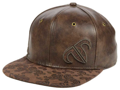Rank Bull Leather Snapback Hat