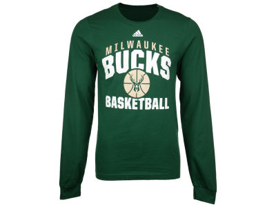 Milwaukee Bucks adidas NBA Men's Rep Big Long Sleeve T-Shirt