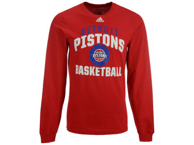 Detroit Pistons adidas NBA Men's Rep Big Long Sleeve T-Shirt