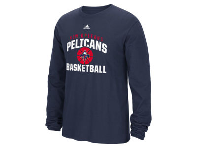 New Orleans Pelicans adidas NBA Men's Rep Big Long Sleeve T-Shirt