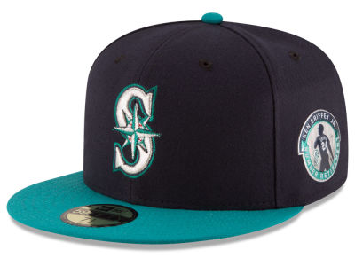 Seattle Mariners Ken Griffey Jr. New Era MLB Ken Griffey Jr On-Field AC Patch 59FIFTY Cap