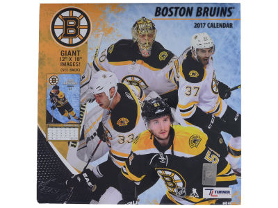 Boston Bruins 2017 Team Wall Calendar 12x12