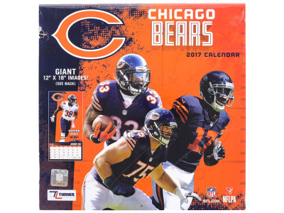 Chicago Bears 2017 Team Wall Calendar 12x12