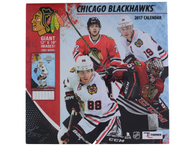 Chicago Blackhawks 2017 Team Wall Calendar 12x12