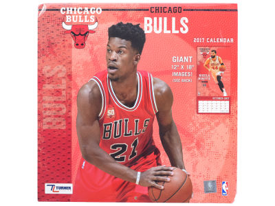 Chicago Bulls 2017 Team Wall Calendar 12x12