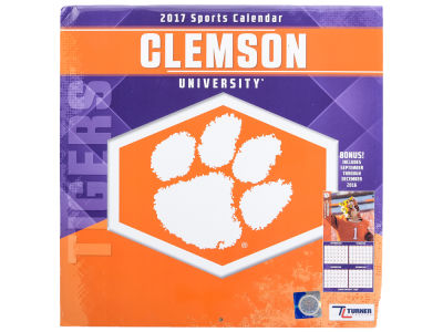 Clemson Tigers 2017 Team Wall Calendar 12x12