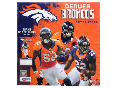 Denver Broncos 2017 Team Wall Calendar 12x12