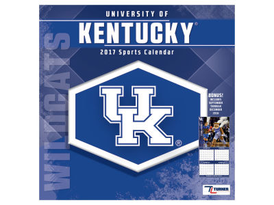 Kentucky Wildcats 2017 Team Wall Calendar 12x12