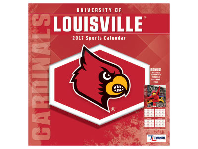 Louisville Cardinals 2017 Team Wall Calendar 12x12
