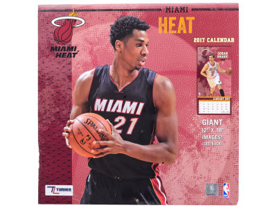 Miami Heat 2017 Team Wall Calendar 12x12