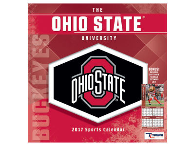 Ohio State Buckeyes 2017 Team Wall Calendar 12x12