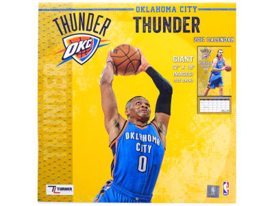 Oklahoma City Thunder 2017 Team Wall Calendar 12x12