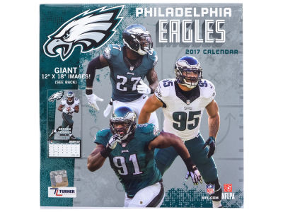 Philadelphia Eagles 2017 Team Wall Calendar 12x12