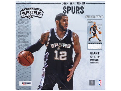 San Antonio Spurs 2017 Team Wall Calendar 12x12