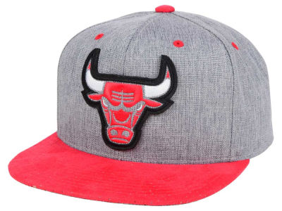 Chicago Bulls Mitchell and Ness NBA Triple Stack Metallic Snapback Cap