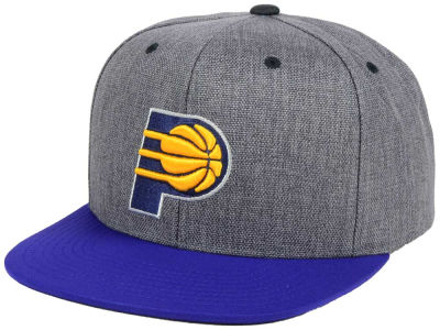 Indiana Pacers Mitchell & Ness NBA Cation 2Tone Snapback Cap