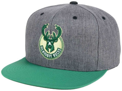 Milwaukee Bucks Mitchell and Ness NBA Cation 2Tone Snapback Cap