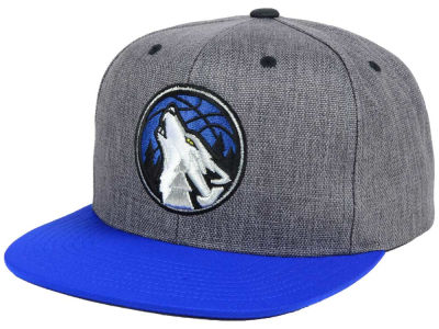 Minnesota Timberwolves Mitchell and Ness NBA Cation 2Tone Snapback Cap