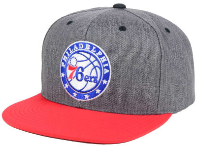 Philadelphia 76ers Mitchell and Ness NBA Cation 2Tone Snapback Cap