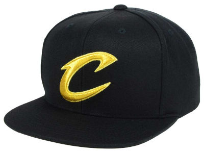 Cleveland Cavaliers Mitchell and Ness NBA All Gold Logo Snapback Cap