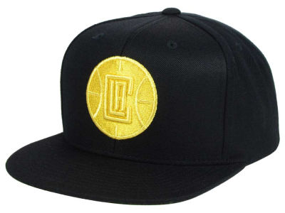 Los Angeles Clippers Mitchell and Ness NBA All Gold Logo Snapback Cap