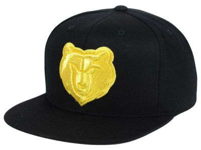 Memphis Grizzlies Mitchell and Ness NBA All Gold Logo Snapback Cap