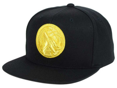 Minnesota Timberwolves Mitchell and Ness NBA All Gold Logo Snapback Cap