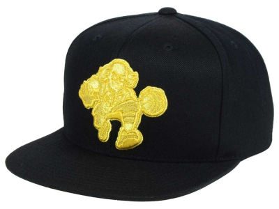 Philadelphia 76ers Mitchell and Ness NBA All Gold Logo Snapback Cap