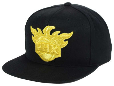 Phoenix Suns Mitchell and Ness NBA All Gold Logo Snapback Cap