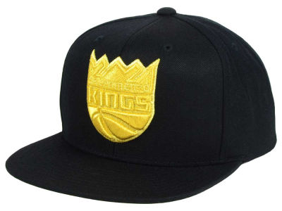Sacramento Kings Mitchell and Ness NBA All Gold Logo Snapback Cap