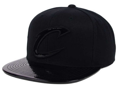 Cleveland Cavaliers Mitchell and Ness NBA Patent Black Out Snapback Cap
