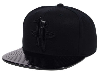 Houston Rockets Mitchell and Ness NBA Patent Black Out Snapback Cap