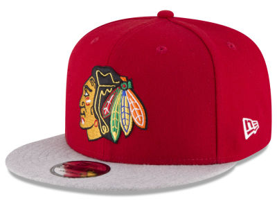 Chicago Blackhawks New Era NHL Heather Vize 9FIFTY Snapback Cap