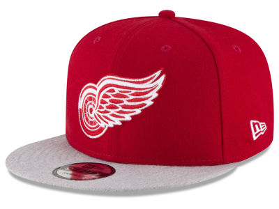 Detroit Red Wings New Era NHL Heather Vize 9FIFTY Snapback Cap