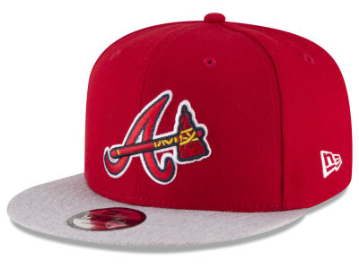 Atlanta Braves New Era MLB Heather VIze 9FIFTY Snapback Cap