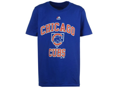 Chicago Cubs Majestic MLB Kids Hit & Run T-Shirt