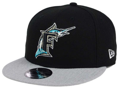 Miami Marlins New Era MLB Heather VIze 9FIFTY Snapback Cap