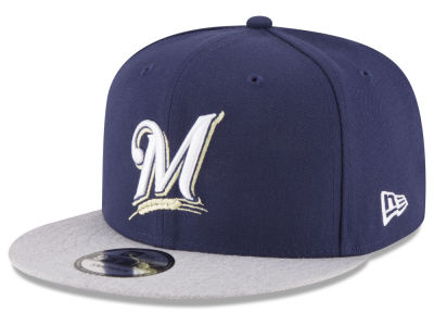 Milwaukee Brewers New Era MLB Heather VIze 9FIFTY Snapback Cap