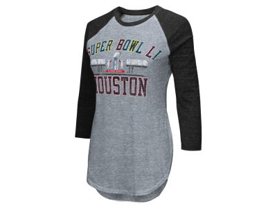 Super Bowl LI G-III Sports NFL Women's Super Bowl LI Hang Time Raglan T-Shirt