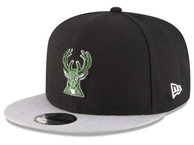 Milwaukee Bucks New Era NBA HWC Heather Vize 9FIFTY Snapback Cap