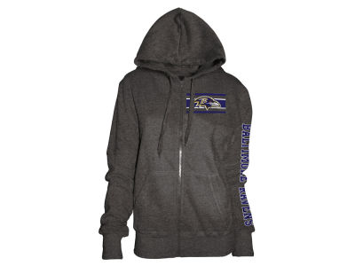 Baltimore Ravens 5th & Ocean NFL Women's Backfield Hooded Sweatshirt