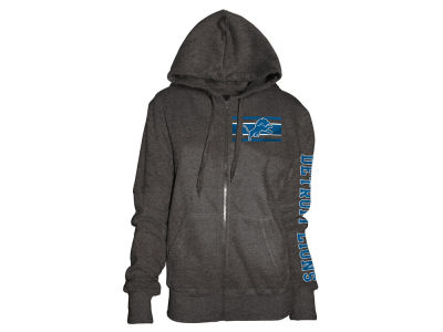 Detroit Lions 5th & Ocean NFL Women's Backfield Hooded Sweatshirt