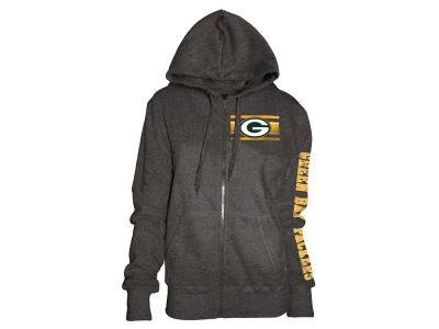 Green Bay Packers 5th & Ocean NFL Women's Backfield Hooded Sweatshirt