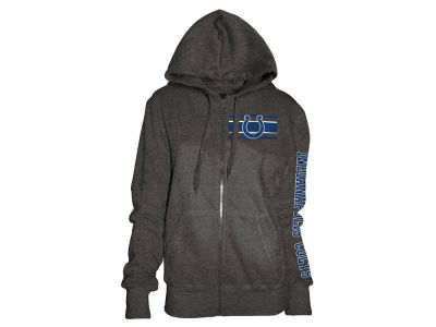 Indianapolis Colts 5th & Ocean NFL Women's Backfield Hooded Sweatshirt