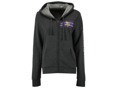 Minnesota Vikings 5th & Ocean NFL Women's Backfield Hooded Sweatshirt