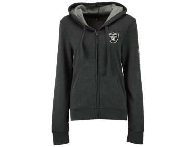Oakland Raiders 5th & Ocean NFL Women's Backfield Hooded Sweatshirt
