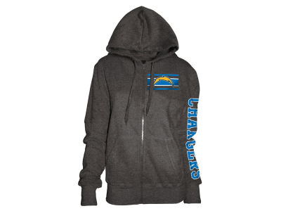 San Diego Chargers 5th & Ocean NFL Women's Backfield Hooded Sweatshirt