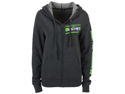 Seattle Seahawks 5th & Ocean NFL Women's Backfield Hooded Sweatshirt
