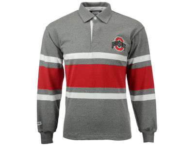 Ohio State Buckeyes NCAA Men's Collegiate Stripe Rugby Long Sleeve T-Shirt