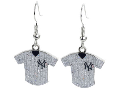 New York Yankees Glitter Jersey Earrings